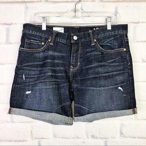 Gap 1969 Distressed Sexy Boyfriend Denim Shorts